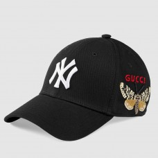Gucci Black Baseball Cap With NY Yankees™ Patch