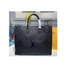 Louis Vuitton M44570 LV Onthego tote bags Black Taurillon leather