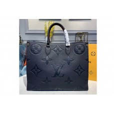 Louis Vuitton M44570 LV Onthego tote bags Navy Blue Taurillon leather