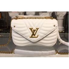 Louis Vuitton M51945 LV New Wave Chain Bags MM White