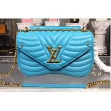 Louis Vuitton M51946 LV New Wave Chain Bags MM Blue