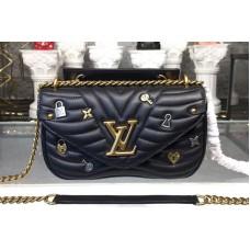Louis Vuitton M52913 New Wave Chain Bag PM New Wave Leather Black