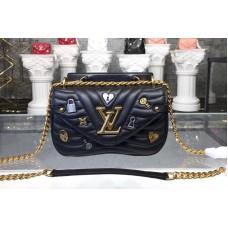 Louis Vuitton M53213 New Wave Chain Bag PM New Wave Leather Black