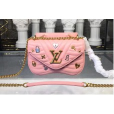 Louis Vuitton M53213 New Wave Chain Bag PM New Wave Leather Pink
