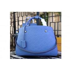 Louis Vuitton M41048 Monogram Empreinte Montaigne MM Bags Blue