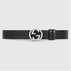 Gucci Black Reversible Gucci Signature Belt