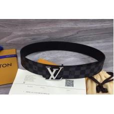 Louis Vuitton LV Initiales 40mm Damier Graphite Canvas Mens Belts M9808Q
