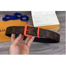 Louis Vuitton 35mm LV Monogram Solar Rey Belt With Orange Buckle