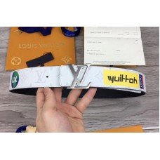 Louis Vuitton LV 40mm Belt White Monogram Canvas