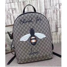 Gucci Bee Print GG Supreme Backpack 419584 2018