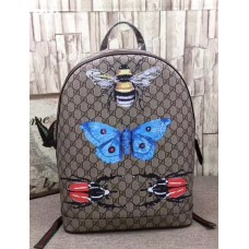 Gucci Bee and Butterfly Print GG Supreme Backpack 419584 2018
