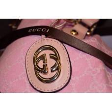 Gucci 247205 pink vintage web original GG canvas boston bag