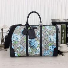 Gucci GG Blue Blooms Medium Duffle Bag 406380(742106)