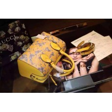 gucci Arabesque GG Supreme top handle bag 409527 yellow