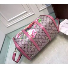 Gucci GG Blooms canvas boston bag Pink