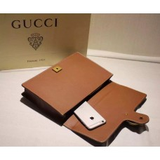 Gucci Animalier leather clutch 415120 Brown