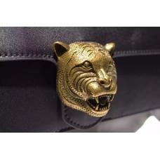 Gucci Animalier leather clutch 415120 Black