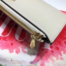 Gucci Zumi Grainy Leather Pouch Clutch Bag 570728 White 2019
