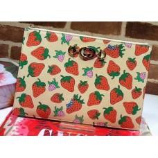 Gucci Zumi Grainy Leather Pouch Clutch Bag 570728 Strawberry 2019
