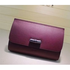 Gucci Bamboo Daily leather clutch 387220 2016 in fuchsia