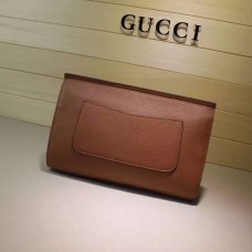 Gucci Bamboo Daily leather clutch 387220 2016 in coffee