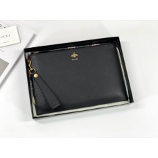 Gucci Animalier Leather Pouch 523684 Black
