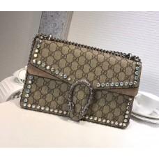 Gucci Dionysus GG Small Crystal Shoulder Bag 400249 Grey 2018