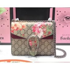Gucci Dionysus GG Supreme Blooms Mini Bag 421970 Burgundy 2018