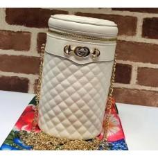 Gucci Interlocking G Horsebit Quilted Leather Belt Bag 572298 White 2019