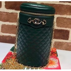 Gucci Interlocking G Horsebit Quilted Leather Belt Bag 572298 Green 2019