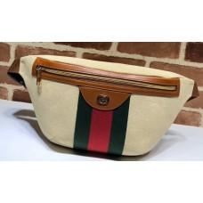 Gucci Web Vintage Canvas Belt Bag 575082 Beige 2019