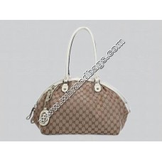 Gucci cruise sukey medium boston bag (White/Apricot)