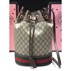 Gucci Ophidia GG Bucket Bag 540457 Beige/Ebony GG Supreme 2018