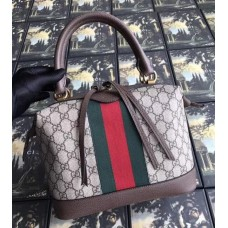 Gucci Ophidia GG Supreme Web Top Handle Bag 523433 Brown 2018