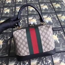 Gucci Ophidia GG Supreme Web Top Handle Bag 523433 Black 2018