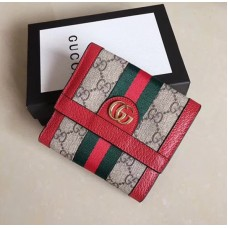 Gucci Ophidia GG French Flap Wallet 523173 Red 2018