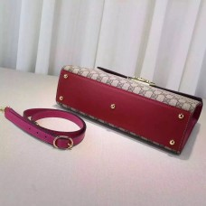 gucci Padlock GG Supreme top handle bag 432674 red