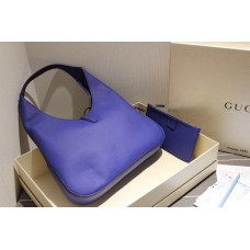 Gucci 362968 Jackie Soft Leather Hobo In Navy