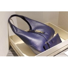 Gucci 362968 Jackie Soft Leather Hobo In Blue