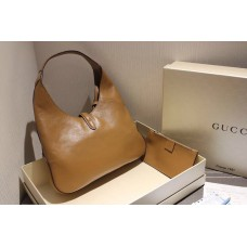 Gucci 362968 Jackie Soft Leather Hobo In Brown