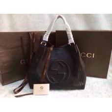 Gucci 282309 Medium Soho Shoulder Bag Black