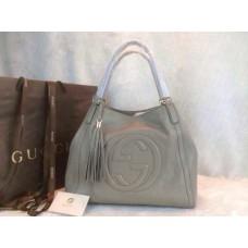 Gucci 282309 Medium Soho Shoulder Bag Grey