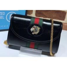 Gucci Vintage Web Rajah Chain Mini Bag 573797 Leather Black 2019