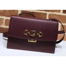 Gucci Zumi Grainy Leather Small Shoulder Bag 576338 Burgundy 2019