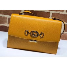 Gucci Zumi Grainy Leather Small Shoulder Bag 576338 Yellow 2019