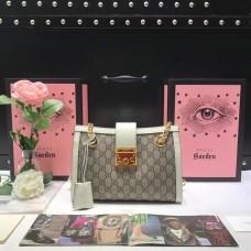 Gucci Padlock GG Small/Medium Shoulder Bag 479197 White 2018