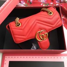 GG Marmont matelassé mini bag 446744 red