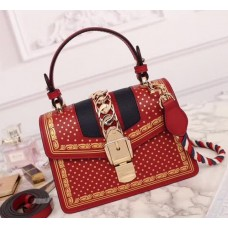 Gucci Sylvie Leather Mini Bag 470270 Red 2018