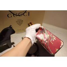 Gucci 368823 Bamboo Shopper Mini Cerise Blooms Top Handle Bag F/W2015