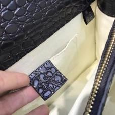 Gucci  Dionysus leather top handle bag 448075 Black (SuperM-71906)